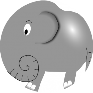 llustration of a cartoon elephant : Free Stock Photo